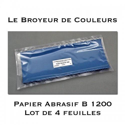Papier Abrasif B 1200 - Lot de 4 Feuilles