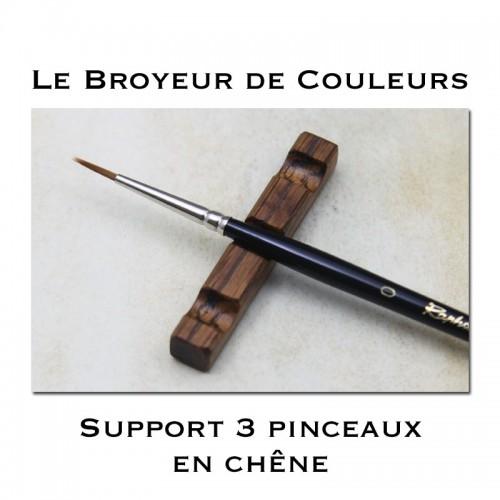 Support 3 Pinceaux en Chêne