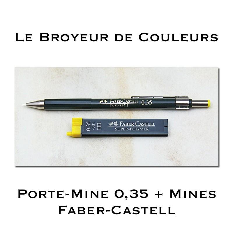 Porte Mine Faber-Castell TK-Fine 0,35 + Boite Mines HB
