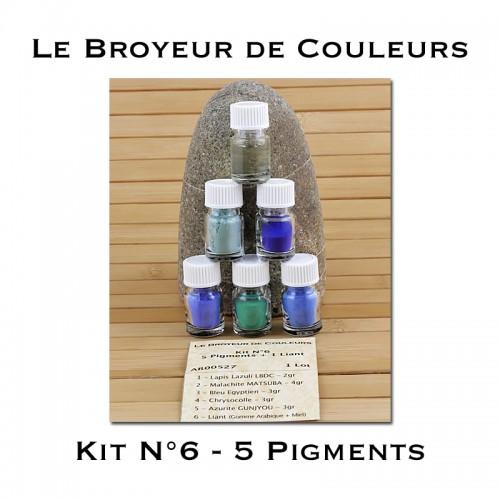 Kit N°6 - 5 Pigments + 1 Liant