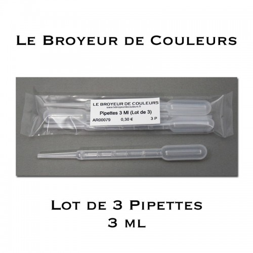 Lot de 3 Pipettes - 3 ml