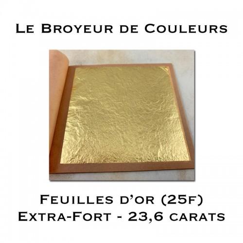 Feuilles d'Or (Libre) - 23,6 carats - Carnet de 25 feuilles