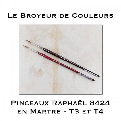 Pinceaux Raphaël 8424 Martre - T3 ou T4