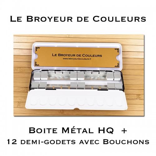 Boite Métal 24 Demi-Godets HQ + Accessoires