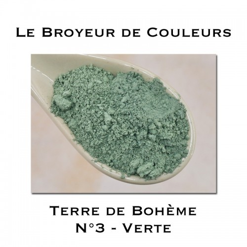 Pigment Terre de Bohème N°3 - Verte