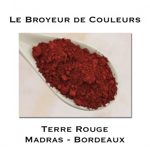 Pigment Terre Rouge de MADRAS Bordeaux