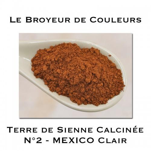 Pigment Terre de Sienne Calcinée N°2 - MEXICO Clair