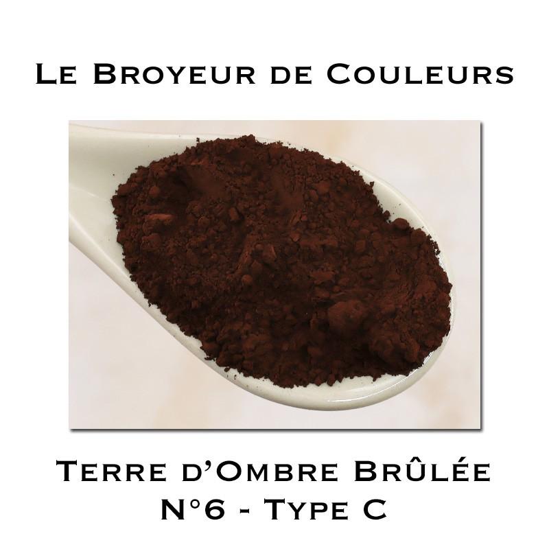 Pigment Terre d'Ombre Brûlée N°6 - Type C