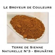 Pigment Terre de Sienne Naturelle N°3 - Brunâtre