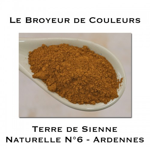 Pigment Terre de Sienne Naturelle N°6 - Ardennes