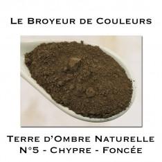 Pigment Terre d'Ombre Naturelle N°5 - Chypre Foncée