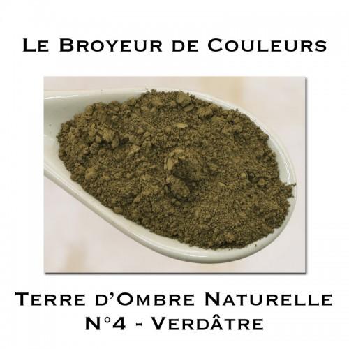 Pigment Terre d'Ombre Naturelle N°4 -  Verdâtre Foncée