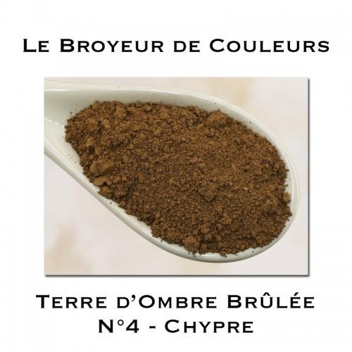 Pigment Terre d'Ombre Brûlée N°4 - Chypre