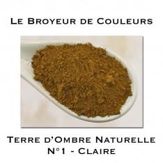 Pigment Terre d'Ombre Naturelle N°1 - Claire