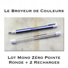 Crayon Gomme Mono Zéro Pointe ronde + 2 Recharges