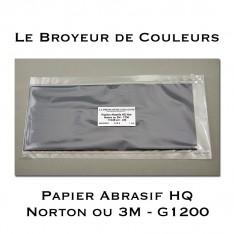 Papier Abrasif HQ 1200 - Lot de 4 Feuilles (Noir)