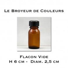 Flacon Vide en verre avec bouchon - 15 ml