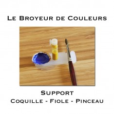 Support Coquille Fiole Pinceau