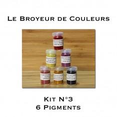 Kit N°3 - 6 Pigments