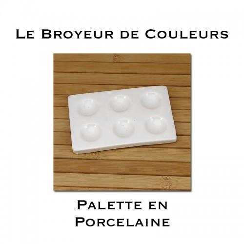 Palette en Porcelaine - 6 Cavités