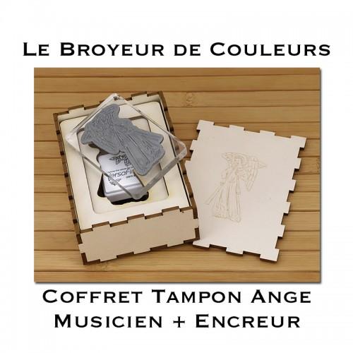 Tampon Ange Musicien - Coffret avec encreur