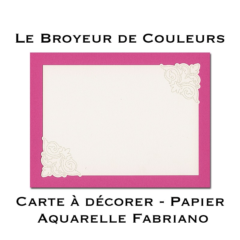 Lot de 6 Cartes à décorer - Micro-Perforées