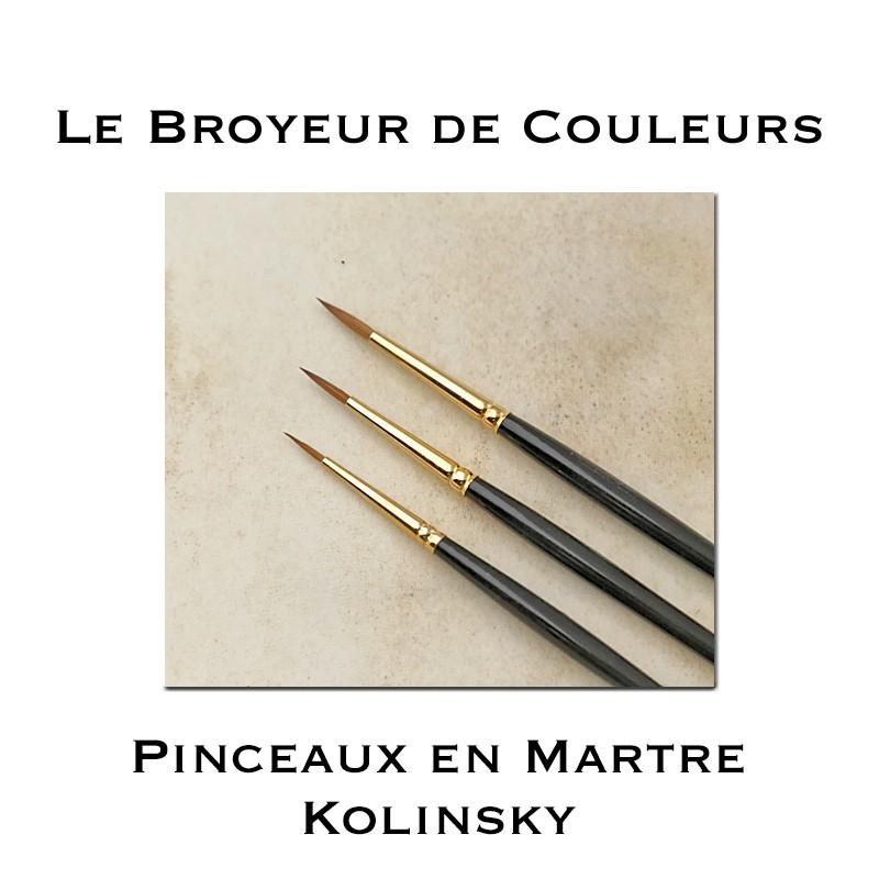 Pinceaux en Martre Kolinsky