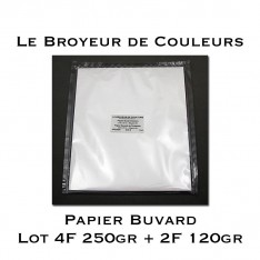 Papier Buvard - Lot de 4 Feuilles 250gr + 2 Feuilles 120gr