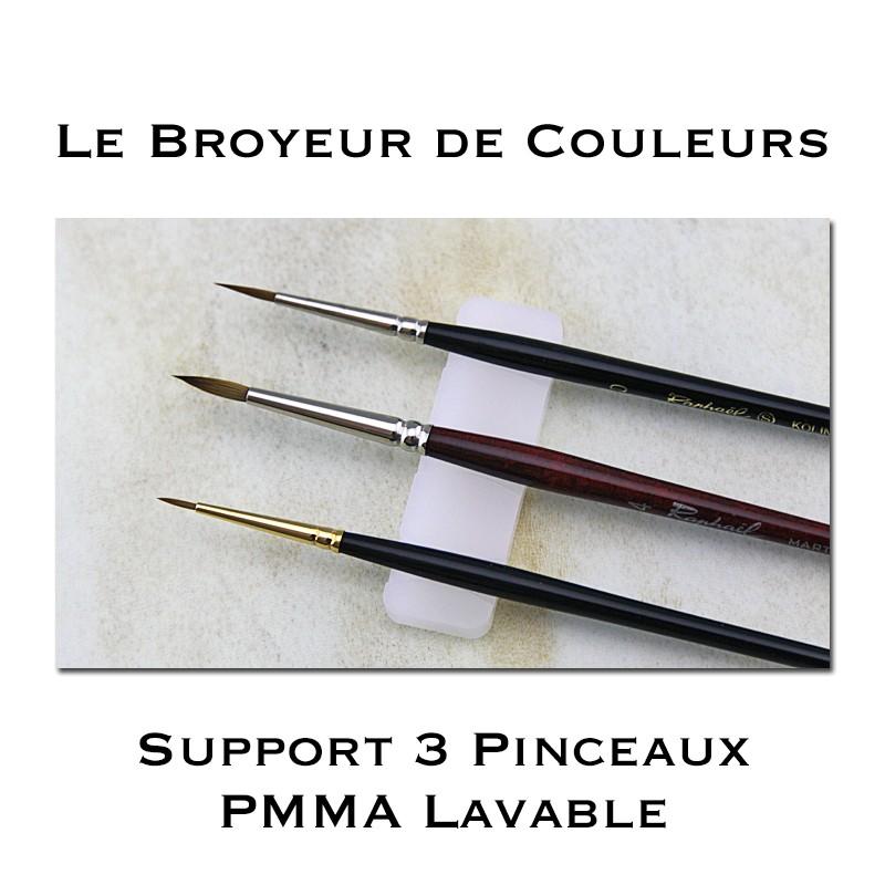 Support 3 Pinceaux en PMMA