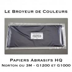 Papiers Abrasifs HQ Norton ou 3M G1000 et G1200 - Lot de 3 + 3 Feuilles (Noir)