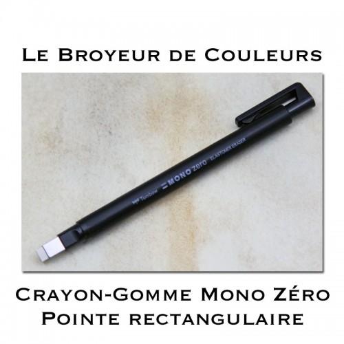 Crayon Gomme Mono Zéro Pointe rectangulaire